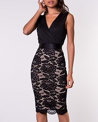 Mia Bodycon Midi Dress Black