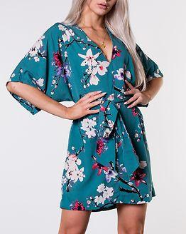 Karmen Kimono Dress Green/Floral