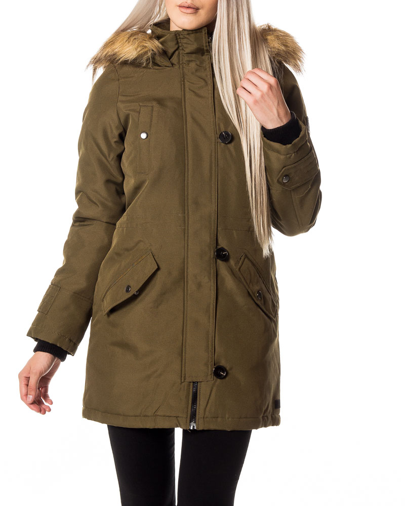 vero moda excursion expedition 3 4 parka dark olive. Black Bedroom Furniture Sets. Home Design Ideas