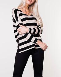 Maye Stripe Pullover Black/Hazelnut