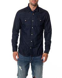 Nonened Shirt Dark Blue Denim