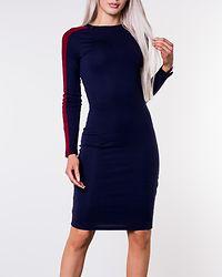 Sadie Midi Dress Navy/Red/White