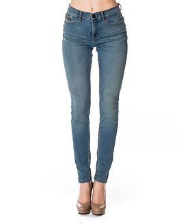 High Rise Skinny Mobby Blue