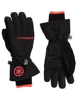 Ultimate Snow Service Glove Black/Hyper Orange