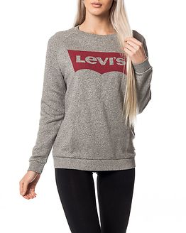 Relaxed Graphic Crew Fleece Batwing Grey