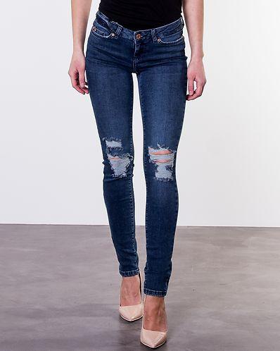 Eve Skinny Destroy Jeans Dark Blue Denim 4784acae7d24f