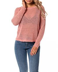 Rylia Wide Boatneck Blouse Strawberry Ice