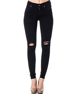 Lexy Black Ripped Knees