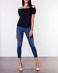 Anna Milo Off Shoulder Top Night Sky