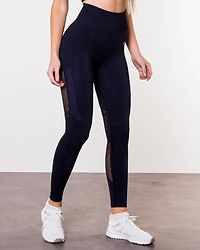 Seamless High Waist Tights Navy Melange
