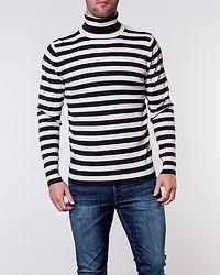 Prince-Stripe Roll Neck Black/Egret