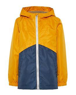 Mang Jacket Color Block Golden Orange