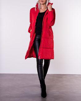 Erica X-Long Padded Jacket Goji Berry
