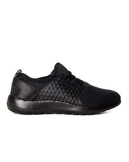 Albi Sporty Lace Up Trainer Black