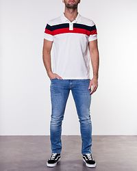 Tommy Chest Stripe Regular Polo Bright White/Multi