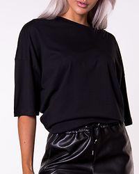 Nellie 2/4 Long Oversize Top Black