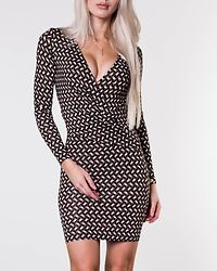 Lumina Dress Black/White/Beige