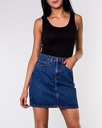 Kathy Short Denim Skirt Medium Blue Denim