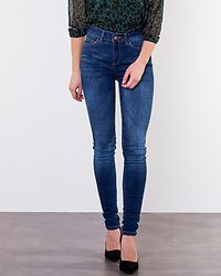 Lucy Power Shape Jeans Dark Blue Denim