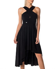 Lilou Drop Back Dress Black