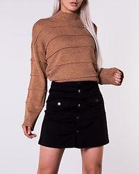 Five Button Skirt Denim Black