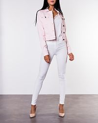 Dora Color Denim Jacket Barely Pink