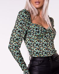 Green Abstract Ditsy Bodysuit