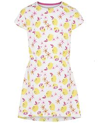 Vigga Dress Bright White/LEMONS