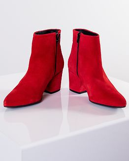 Astrid Leather Boot Pompeian Red