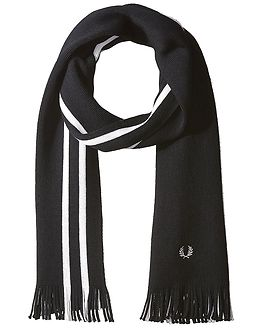College Stripe Scarf Black/Porcelain