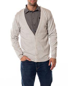 Merino Cardigan Light Grey