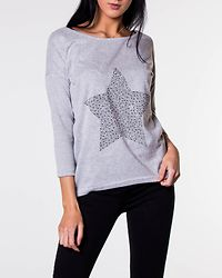 Elcos Stud Top Light Grey Melange/Star