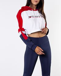 Flag Tape Crop Hoody True Red