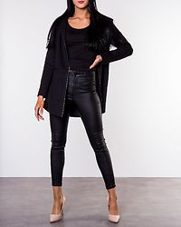 Nala Ruby Hooded Spring Coat Black/Solid