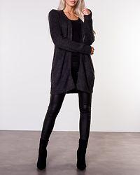 Ellen Long Knit Cardigan Dark Grey Melange