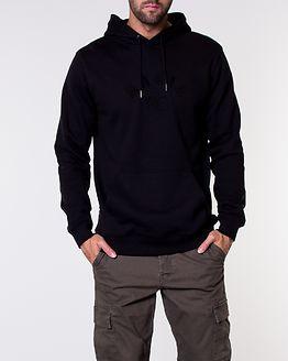 Brand Hooded Sweatshirt Black