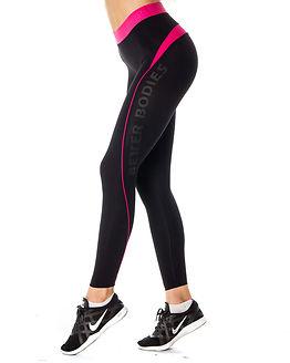 Fitness Curve Tights Black/Pink
