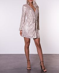 Sequin Dress Nude/Silver