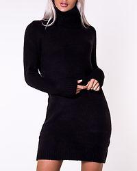 Flinka Knit Cowlneck Dress Black