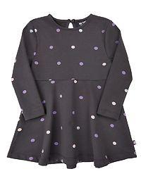 Dress L/S Sweat Dot Asphalt