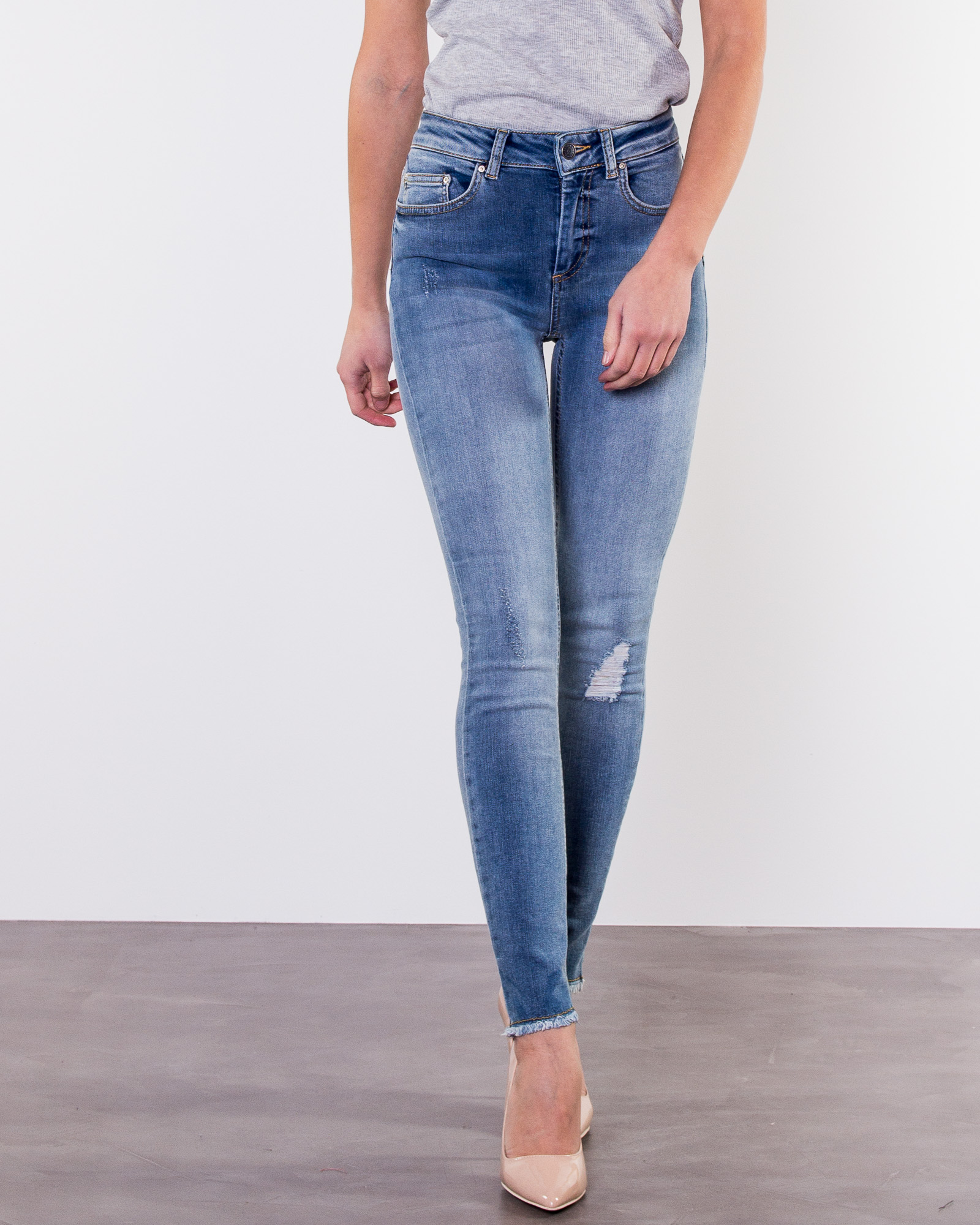 4ae04cdef2 Only, Blush Ankle Raw Jeans Light Blue Denim | Pants ...