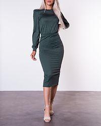 Besa Rib Dress Dark Green