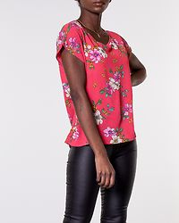 Trick Treats Top Cayenne/Pink Flower