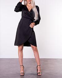 Gamma Wrap Dress Black