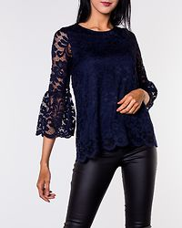Amie Lace Top Navy