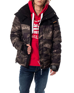 Box Snow Puffer Camo Green/Black