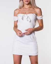 Scarlet Broderie Dress White