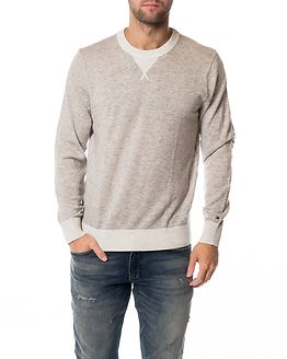 Color Tipped Crew Neck Cloud Heather