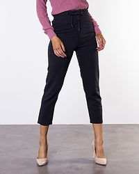 Mindy Cropped String Pants Black