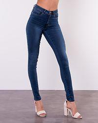 Royal High Waist Skinny Jeans Dark Blue Denim
